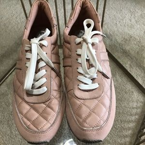 Michael Kors Blush Quilted Tennis Shoes- size 10